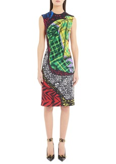 Versace Mixed Tartan Print Dress