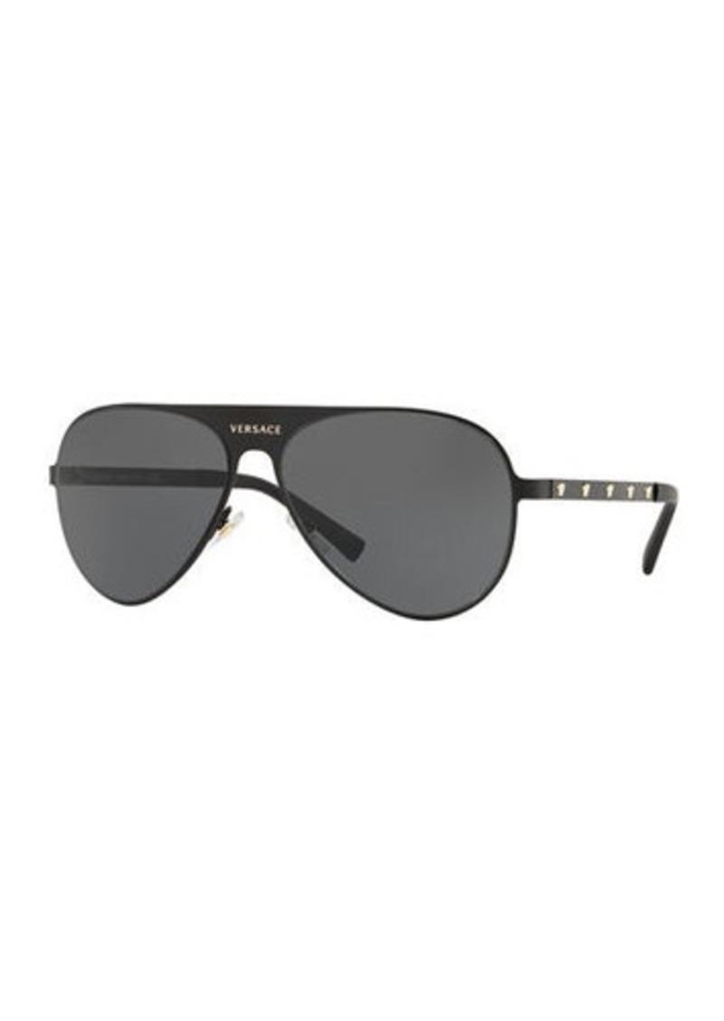 1a168c12f5 Versace Monochromatic Aviator Sunglasses