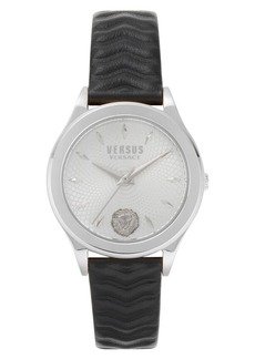 Versus Versace Mount Pleasant Leather Strap Watch, 34mm