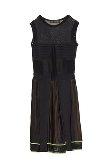 Versace Multi-knit sleeveless dress