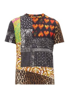 Versace Multi-print cotton T-shirt