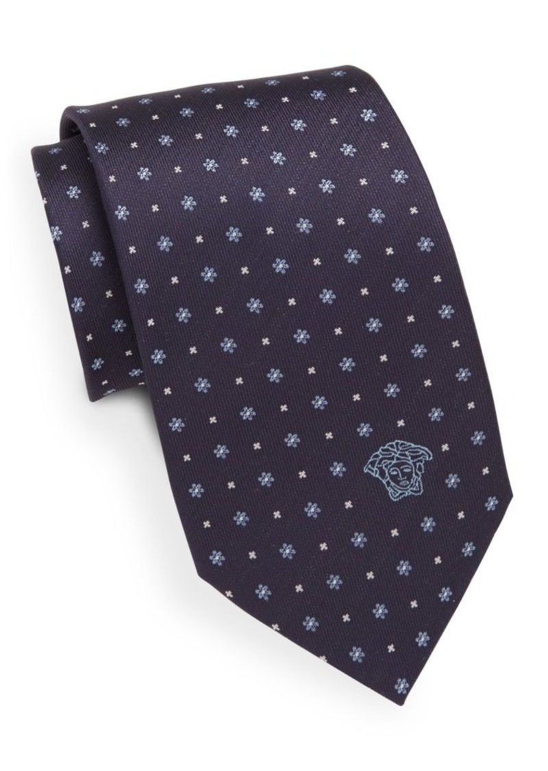 Versace Neat Floral Silk Tie