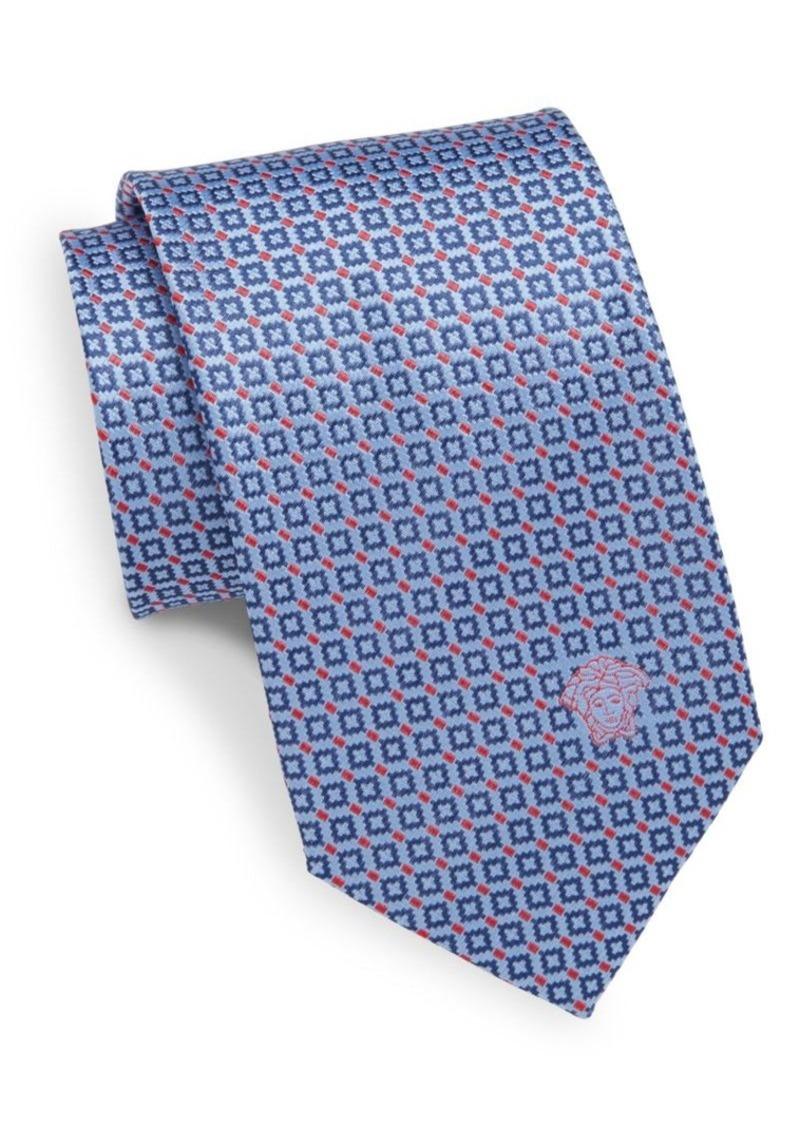 Versace Neat Square Silk Tie