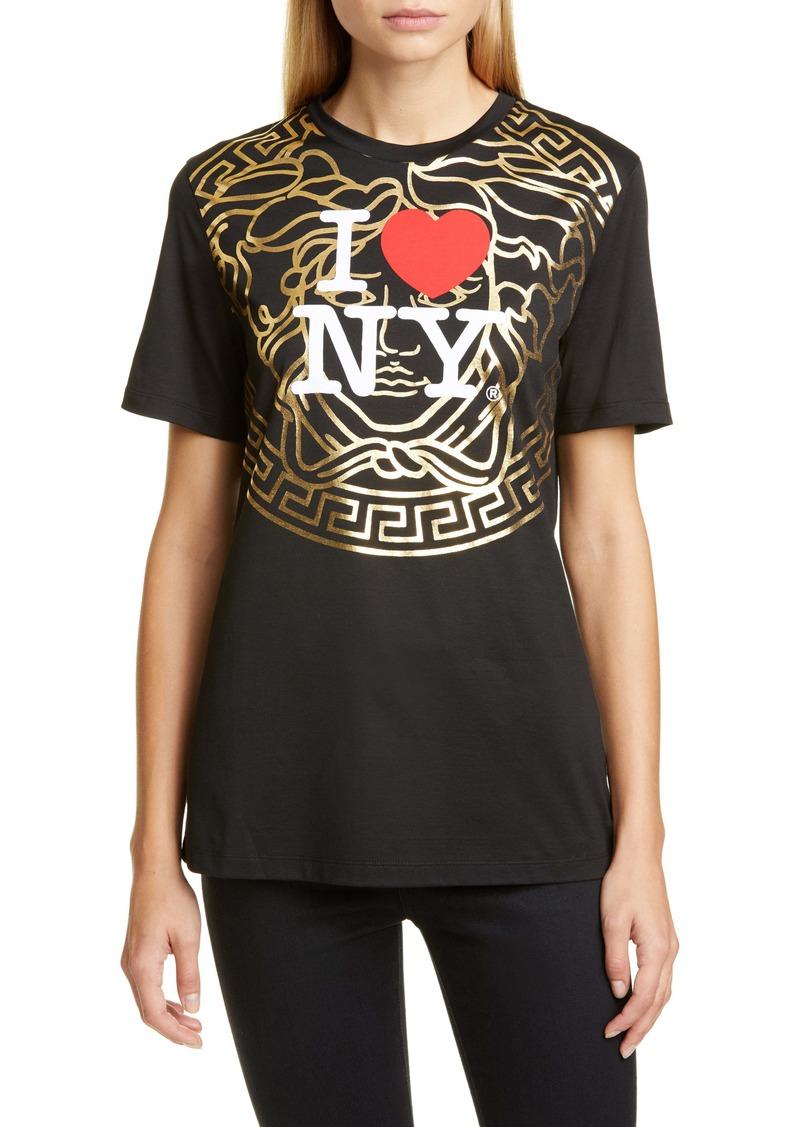 Versace NY Medusa Logo Graphic Tee