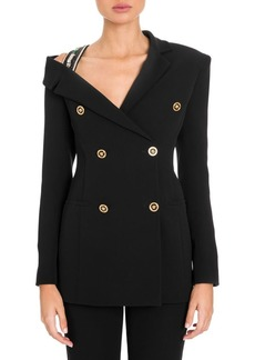 Versace Off-The-Shoulder Blazer