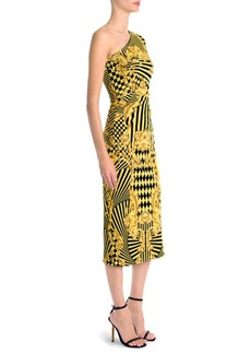Versace One-Sleeve Jersey Dress