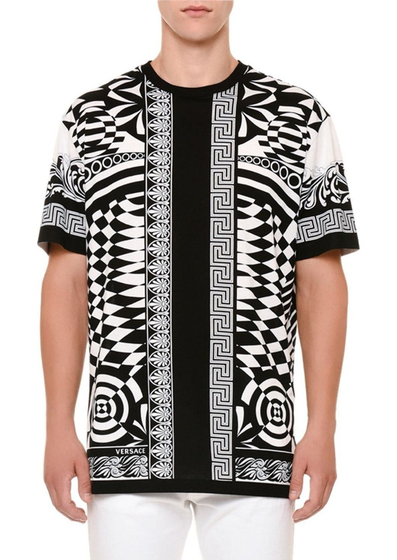 241602b2a08 SALE! Versace Versace Optical Illusion-Graphic T-Shirt - Shop It To Me