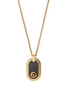 Versace Oval medusa-charm pendant necklace