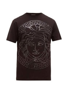 Versace Oversized-logo cotton T-shirt