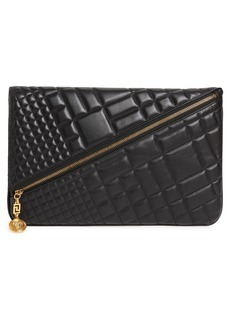 Versace Oversized Quilted Leather Clutch