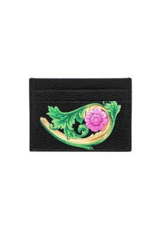 Versace Painted Leather Card Case