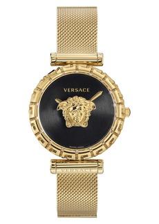 Versace Palazzo Empire Greca Mesh Strap Watch, 37mm