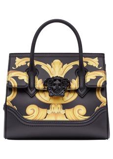 Versace Palazzo Empire Medium Baroque Print Leather Satchel