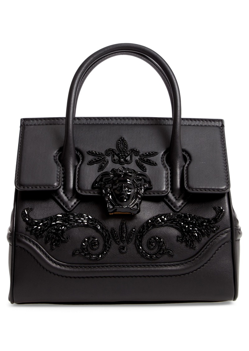 d9865317e7 Versace Versace Palazzo Empire Medium Crystal Embellished Leather ...