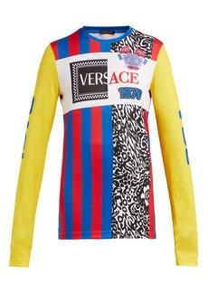 Versace Panelled logo football T-shirt