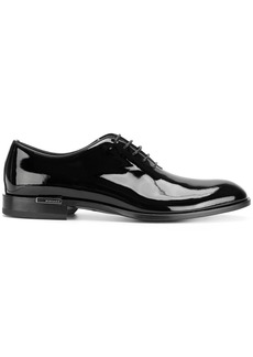 Versace patent lace-up shoes