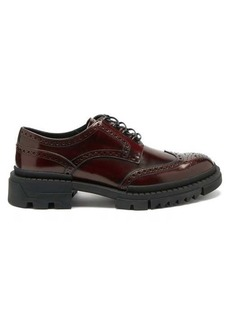 Versace Patinated-leather brogues