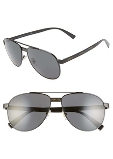 Versace Phantos 58mm Aviator Sunglasses