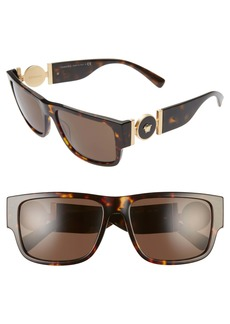 Versace Pillow 58mm Rectangle Sunglasses