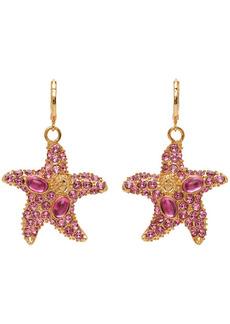 Versace Pink Trésor De La Mer Starfish Drop Earrings