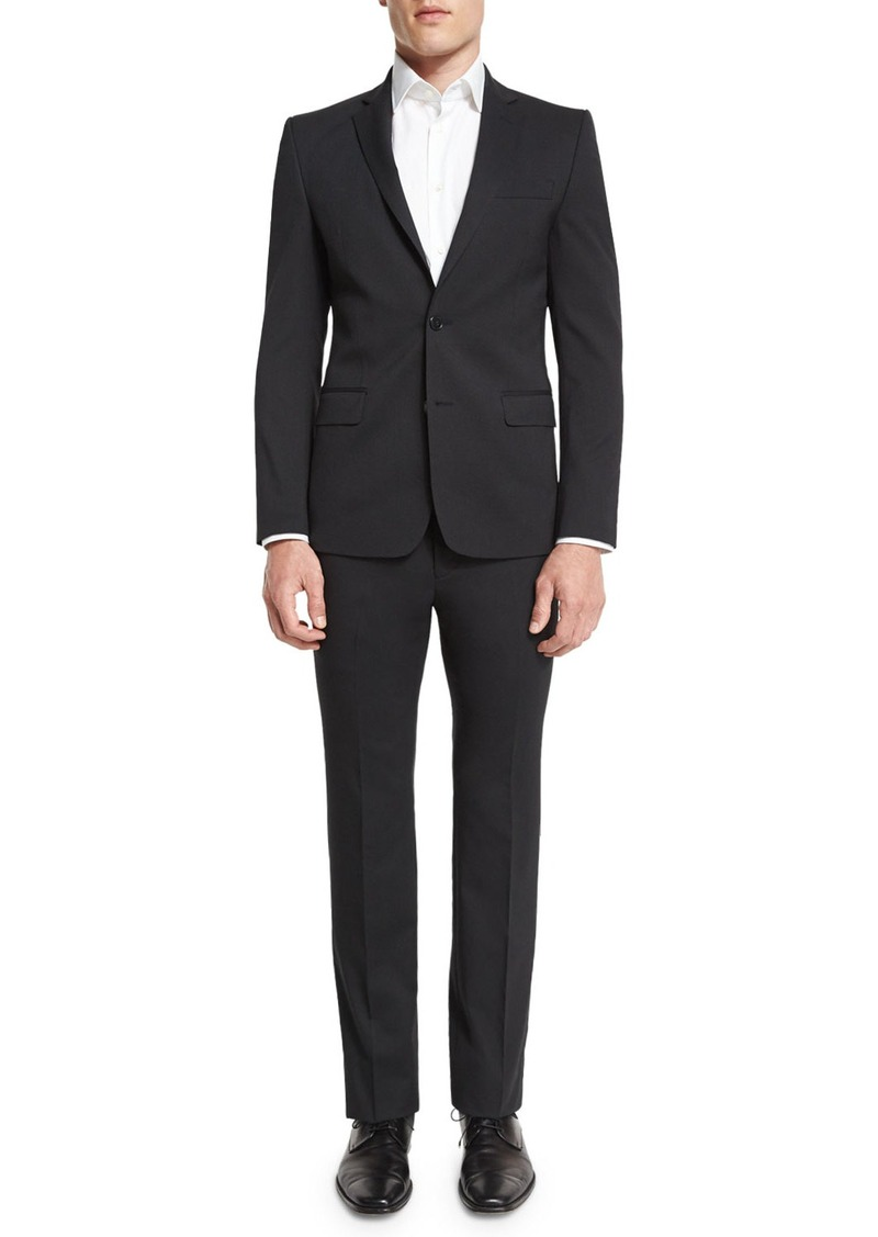 Versace Pinstripe Two-Piece Wool Suit