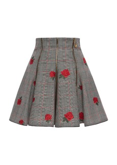 Versace Prince of Wales Embroidered Skirt
