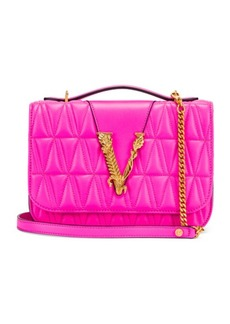 VERSACE Quilted Leather Tribute Crossbody Bag
