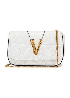 VERSACE Quilted Leather Tribute Rectangle Crossbody Bag