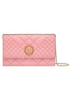 Versace Quilted Leather Wallet on a Chain