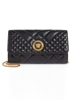 Versace Icon Quilted Leather Wallet on a Chain