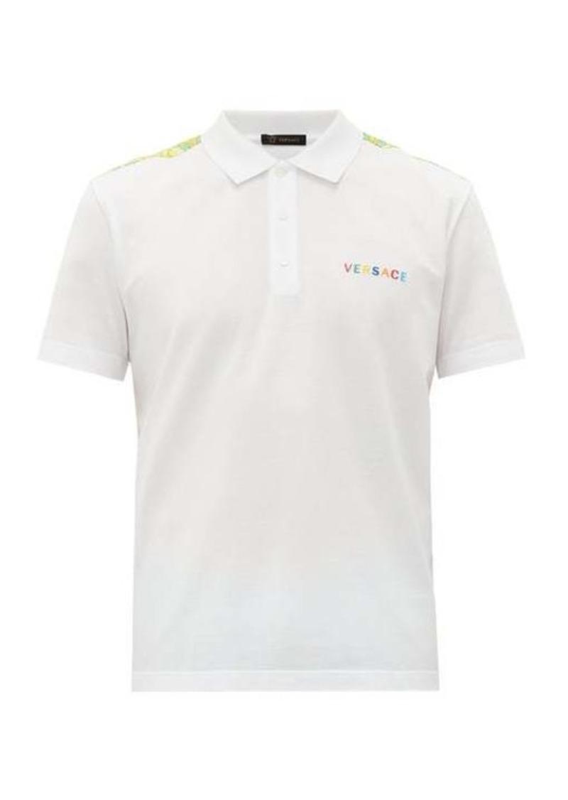 Versace Rainbow-logo cotton polo shirt