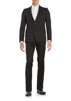 Versace Regular-Fit Tonal Striped Wool Suit