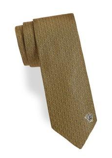 Versace Repeating Maze Silk Tie