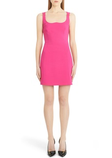Versace Reverse Sweetheart Neck Minidress