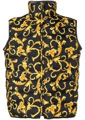 Versace reversible printed puffer vest - Black