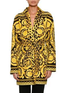 Versace Reversible Twill Trench Coat