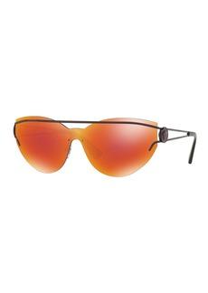 Versace Rimless Cat-Eye Open-Temple Sunglasses