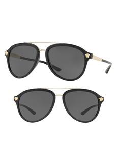 Versace Rock Icons 58mm Aviator Sunglasses