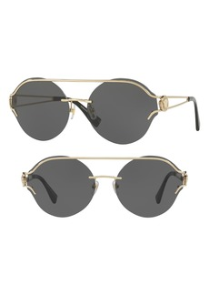 Versace Rock Icons Medusa 61mm Metal Sunglasses