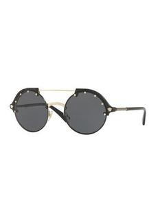 Versace Round Studded Sunglasses
