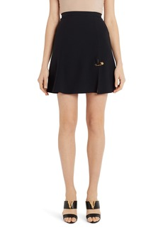 Versace Safety Pin A-Line Miniskirt