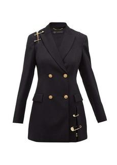 Versace Safety pin-embellished wool blazer