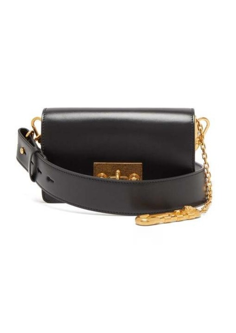 Versace Safety pin leather cross-body bag