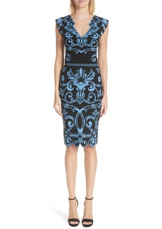 Versace Scroll Pattern Body-Con Dress