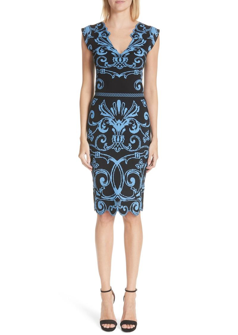 d29091589 Versace Versace Scroll Pattern Body-Con Dress Now $499.98
