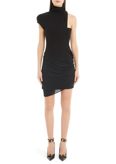 Versace Shoulder Cutout Jersey Dress