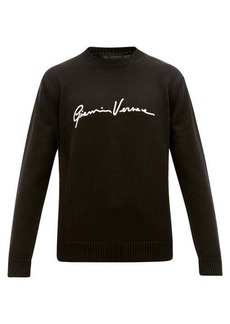 Versace Signature-embroidered cotton sweater