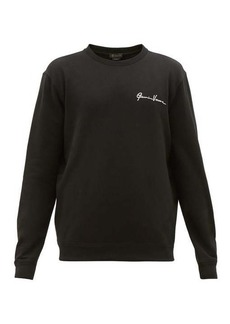 Versace Signature-embroidered cotton sweatshirt