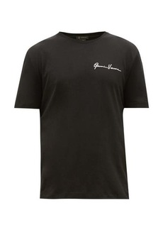 Versace Signature-embroidered cotton T-shirt