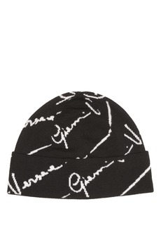Versace Signature Logo Beanie